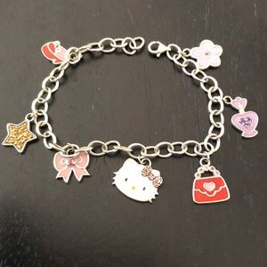 Sterling Silver Hello Kitty Charm Bracelet